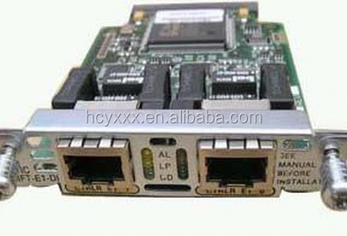 used VWIC-2MFT-E1 MULTIFLEX TRUNK VOICE/WAN INTERFACE CARD - EXPANSION MODULE - 2 PORTS