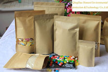 Flexible zip locK dry food packaging kraft paper bag