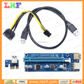 PCI-E16 6P-N03 USB 3.0 PCI-E 1X TO 16X Extender Riser Card Adapter SATA Power 50cm