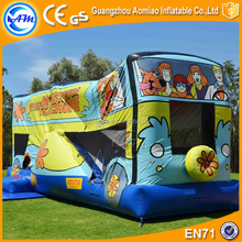 Scooby-Doo mystery inflatable bouncy castle with water slide inflatable combo bouncers