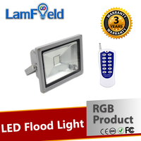 LAMFIELD PATEN RF Control 20W RGB LED Flood Light For Square Outdoor Lighting