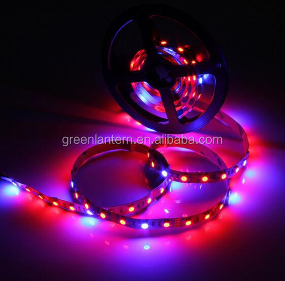 Blue/Red <strong>1</strong>:4/<strong>1</strong>:5/<strong>1</strong>:7/<strong>1</strong>:8 60leds/<strong>m</strong> Led grow strip 5m plant growing 5050SMD DC12v waterproof IP65