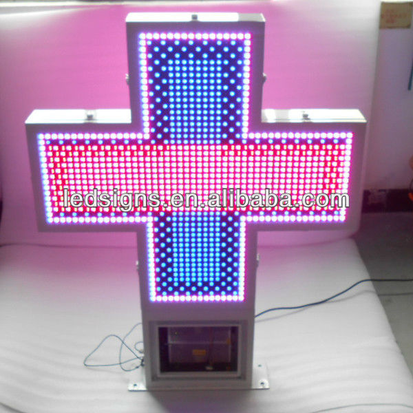 New invention LED white frame outdoor cross sign