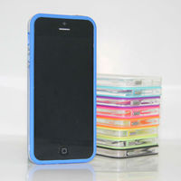 BLUE Plastic Bumper cover Skin Case for Apple iphone 5 5G