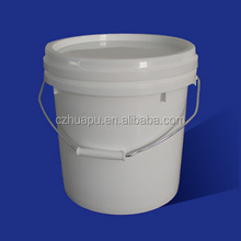 white plastic buckets /pails10 liter with lids and handls