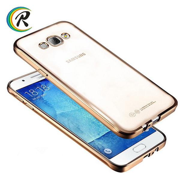 Hot selling case for samsung galaxy a9 pro for Samsung plating bumper tpu skin soft gel cases