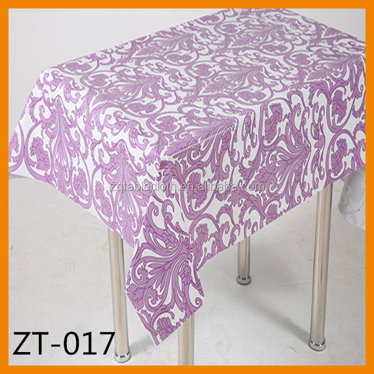 waterproof table cloth fashion design pvc table cloth