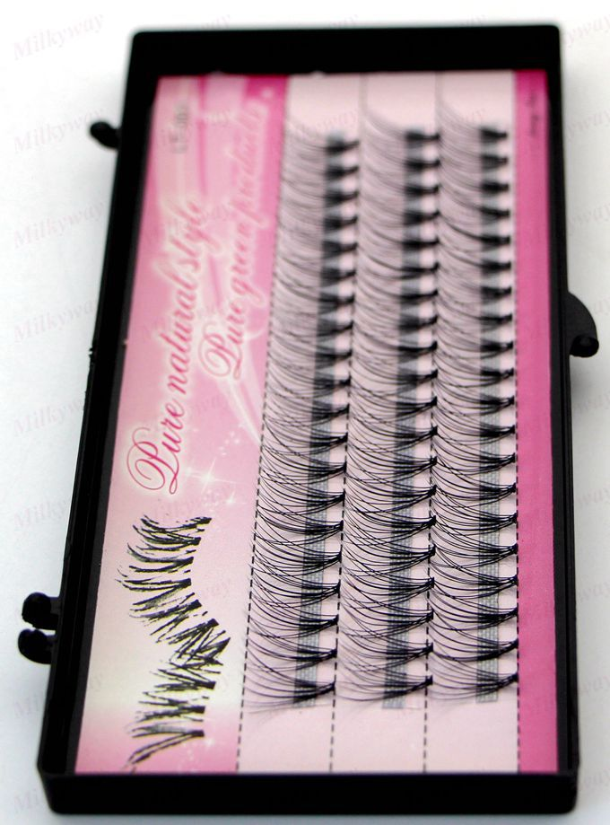 Milkyway w-shape synthetic individual mink lash,mink eyelash extensions