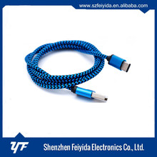 Colorful high speed customized length nylon braided type c usb cable