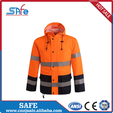 Waterproof winter construction safety reflective motorcycle jacket raincoats