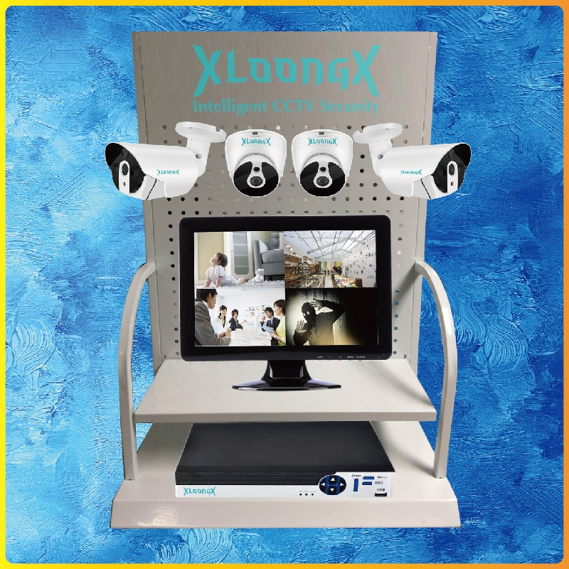 CCTV Security Camera Counter Display Stand best for CCTV demo store showroom exhibition AHD camera stand rack