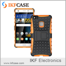 Heavy Duty Shockproof Anti-Slip Case For Huawei P9 Lite Kick-stand Armor Rugged Hybrid Case Cover