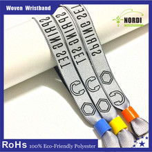 OEM wholesale polyester handicraft suppliers woven lovely wristband with logo