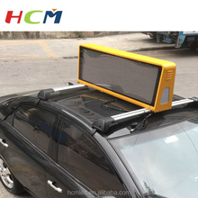 Waterproof hot Sale Outdoor 3G/WIFI Wireless Bus/Car/Truck Roof LED Taxi Top Advertising Sign from HCM China