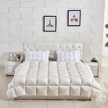 China supplier customized white goose or duck down feather comforter/quilt/duvet