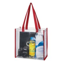 waterproof fashion custom shopping vinyl pvc clear tote bags