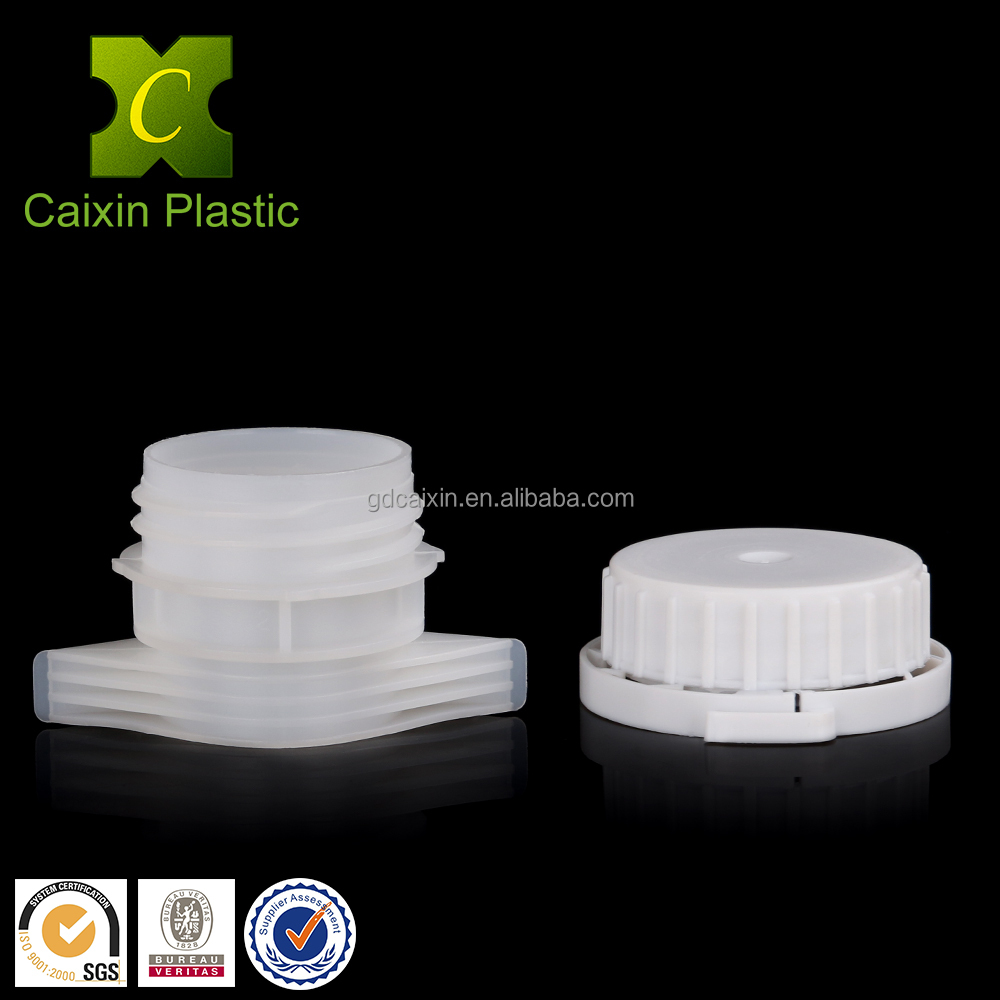 Wide Mouth Spouted Plastic Jars Screw Lid For Food