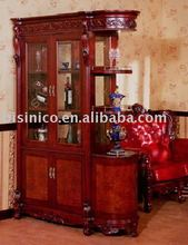 antique french style living room wine cabinet, curio cabinet, showcase B46107