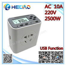 Electrical Plugs Sockets multi-function EP timer special secure usb plug with timing on off function