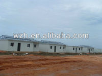 prefabricated warehouse/flat roof prefab house, chalet house, foldable portable house / lisa wzhgroup