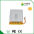 3.7V Lithium battery 603048 li po rechargeable battery with 850mAh