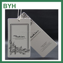 Direct Factory Custom Black Garment Card Hang Tag With Custommized Logo