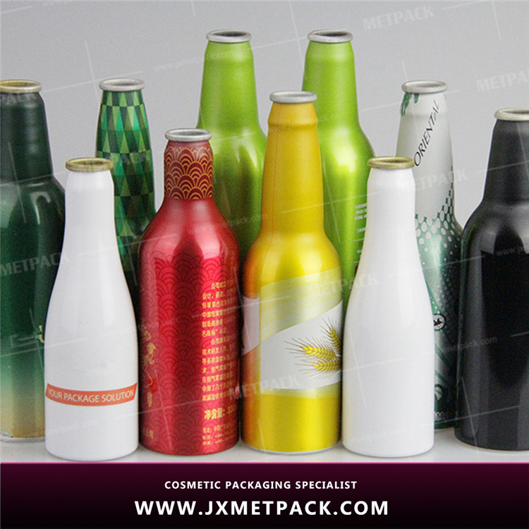 Various sizes Food-Grade Double Wall Metal stainless steel aluminum beer bottle