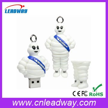 Very fasion hotel greeter shaped usb memory stick