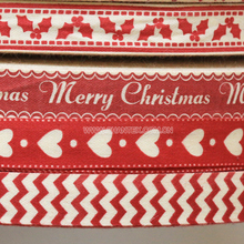Customized Printed Cotton Ribbon Decorative Ribbon For Gift Packing