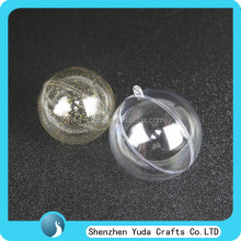 hollow christmas tree decoration clear plastic hanging bauble ball