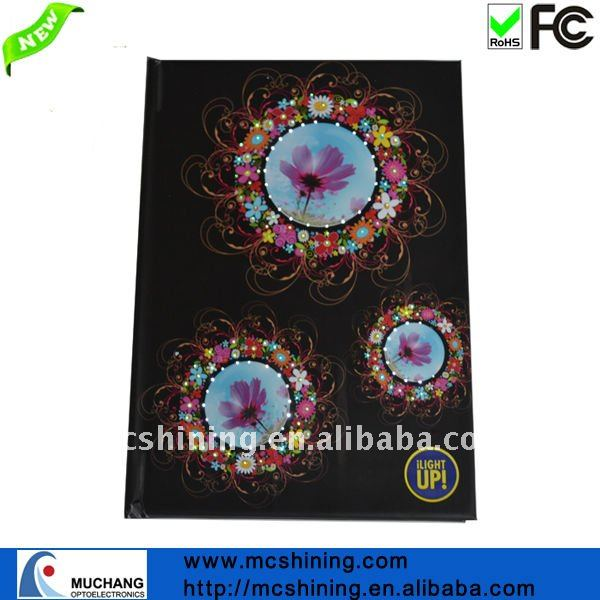ethnic led glowing cheeap office paper diary online 2017