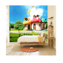 Interior Decoration Children's 3D Wallpaper <strong>Design</strong> Walls Stickers Mural%