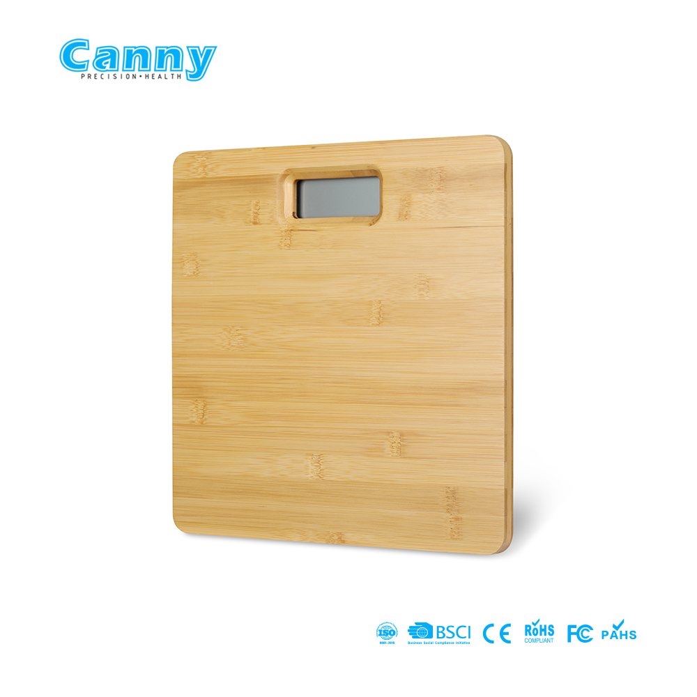 Bamboo platform electronic digital weighing scale