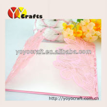 Handmade card paper craft elegant pink lace wedding invitations