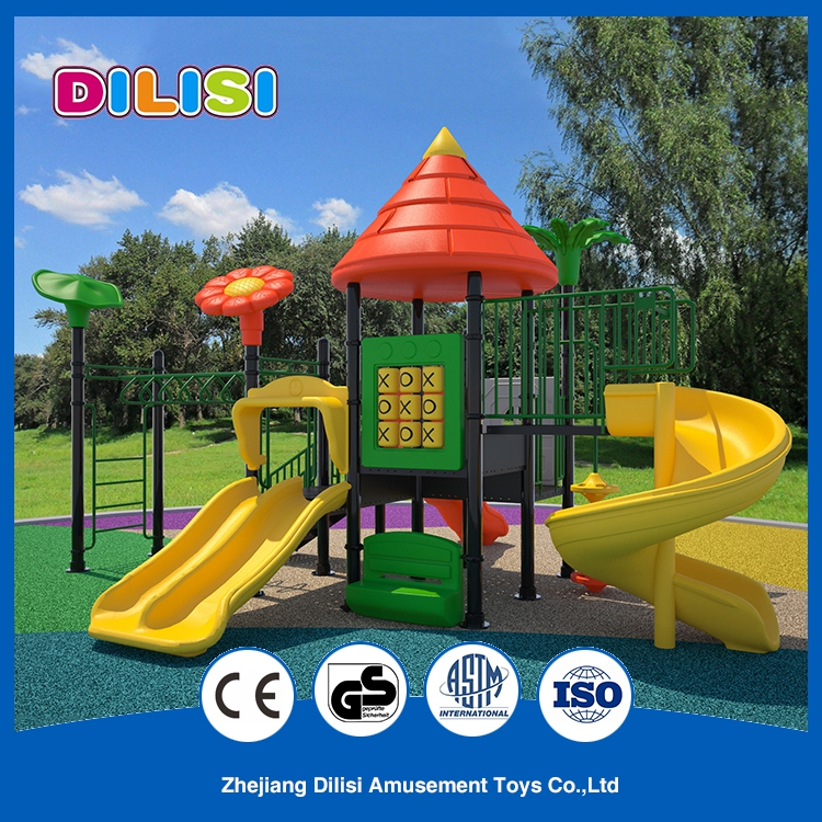 2017 children outdoor used playground big slides for sale