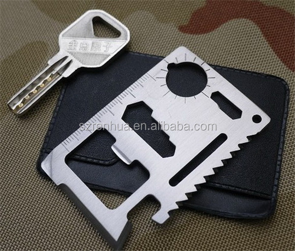 Large size 11 functions in 1 Multifunction Tool Pocket saber Card Outdoor Camping Survival KnifeTravel Kits