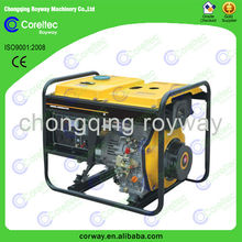 CE&ISO Approved 2.0 kw to 12.0 kw three phase recoil/electric start Portable Open Type 5kw diesel generator price