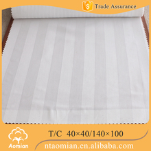 plain white polyester cotton poly cotton fabric bed sheets rolls