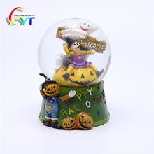 Wholesale Resin Craft Halloween Pumpkin Water Globe Ball For Sale