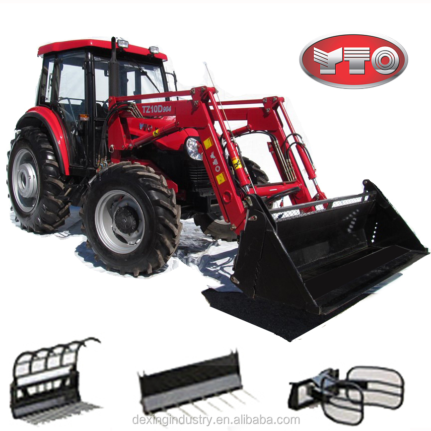 Powerful 90hp Cab Tractor and Loader for Sale