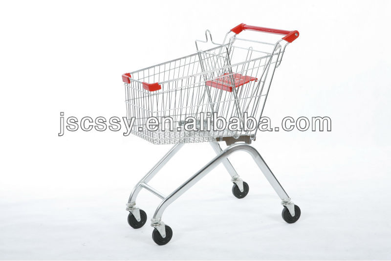80L Euro supermarket shopping trolley