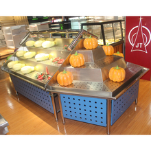 Top quality stainless steel supermarket fruit stand Vegetable rack