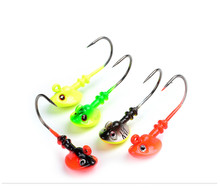 4pcs/lot 10g Lead Head Hook Lure Hook Jig Head Multicolor Fishing Tackle Fish Head Hooks