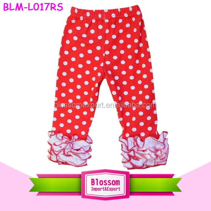 2017 Hot Style Pink Baby Icing Ruffle Pants For Toddler Girl Wholesale Children's Boutique Clothing Icing Baby Legging
