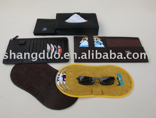 leather Car DVD CD Bag & Case holder