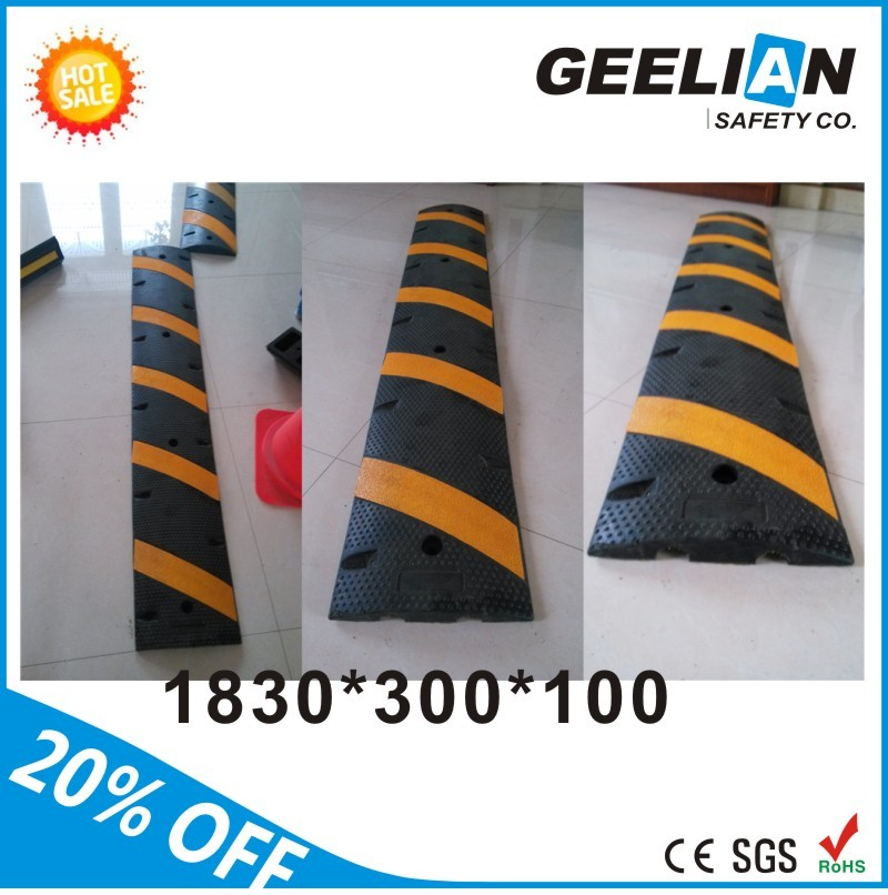 Hot sale reflective PE durable plastic speed bump/speed hump