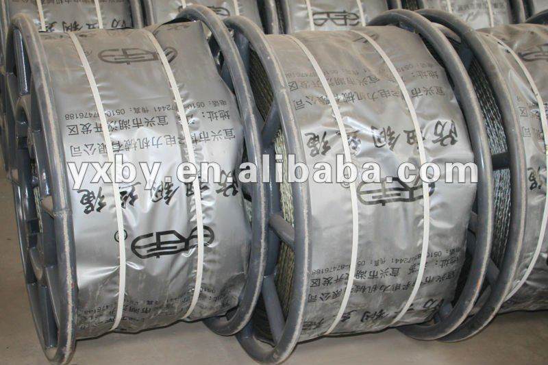 High strength anti twist braided steel wire rope