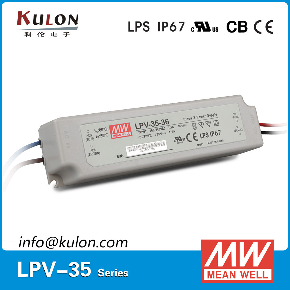 High Efficiency Meanwell LPV-35-36 35W 36V 1A LED <strong>Driver</strong>