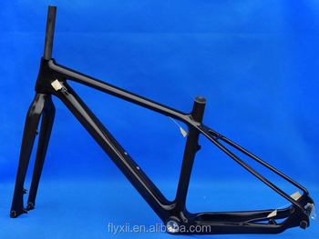 "FLX-FR-215 : Carbon Glossy Cycling 26er Mountain Bike Frame MTB Fork : 17"" , 19"" , 21"""