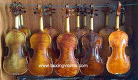 China High end Grade Purfling Handmade oil varnished Antique Solid Violin